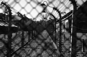 Das sogenannte Stammlager in Auschwitz. Aus Block 8a, Stube 5 schreibt Dr. Wertheim am 10. Dezember 1944 seinen letzten bekannten Brief.