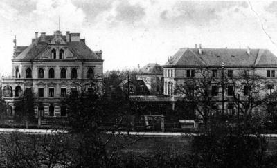 """Alte Ansicht der """"Jacoby'sche Heil- und Pflegeanstalt für Nerven- und Gemütskranke"""" (Sayn), in die u.a. Elise Frank im Juni 1942 verbracht wurde."""
