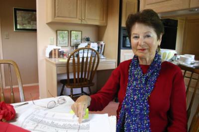 """Als Nr. 297 steht Hannelore Wolf - die sich später Laura Hillman nannte - auf Schindlers Liste. Hinter ihrem Namen steht """"Schreibkraft"""". Das Foto entstand 2004."""