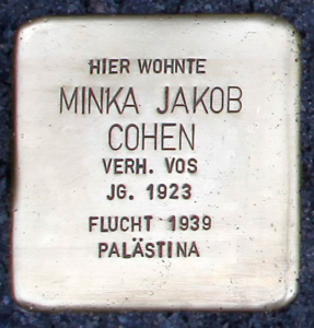 Stolperstein Minka Cohen
