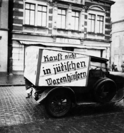 Boykott gegen das Geschäft H. C. Knurr 1933