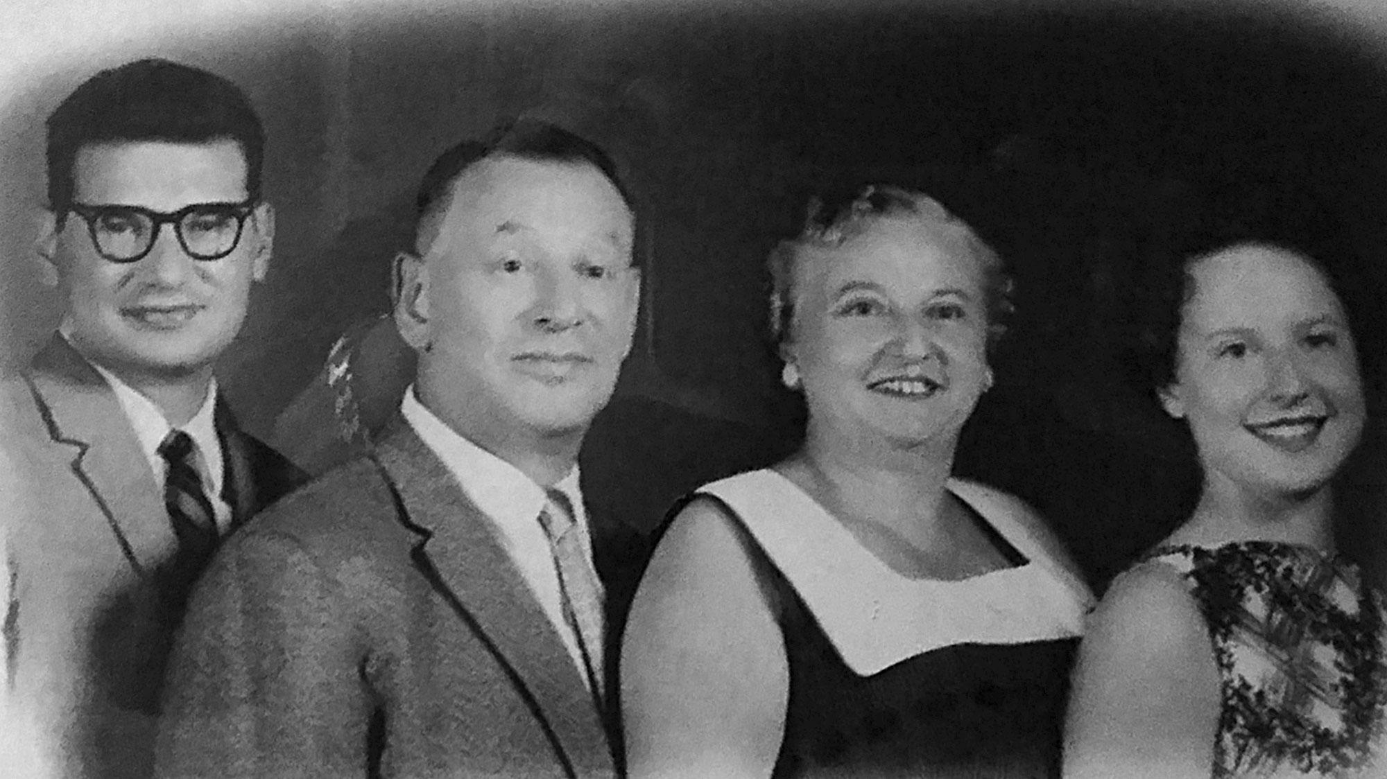 Familie Knurr v.l.n.r. Werner, Erich, Melanie und Evelyn