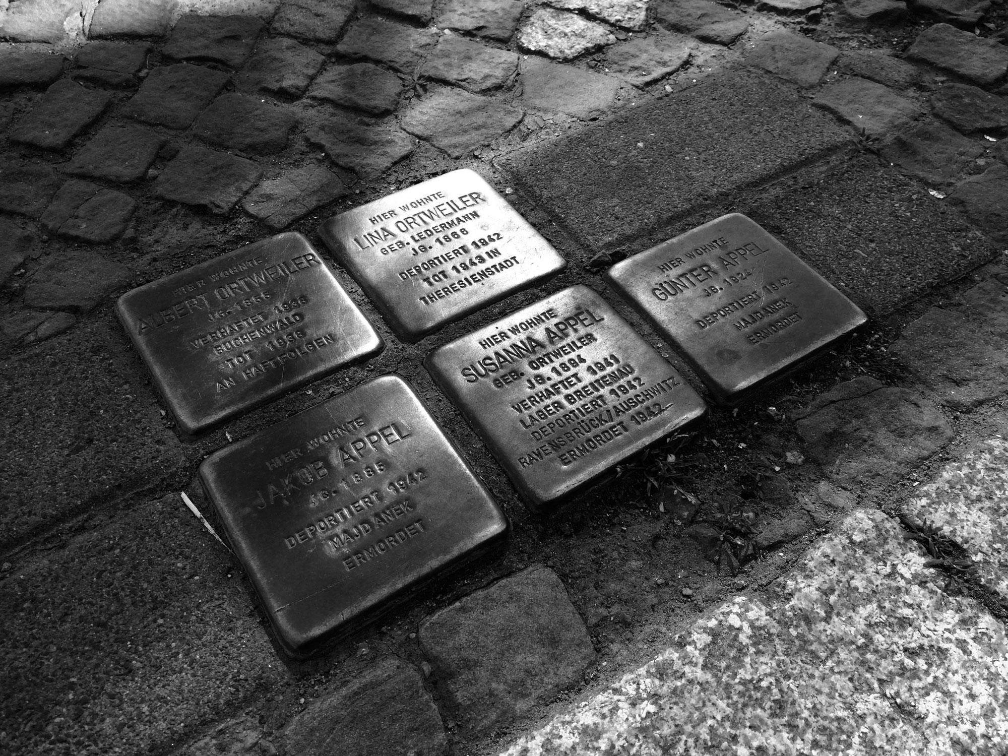 Stolpersteine am Brühl 6