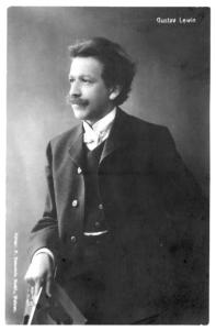 Gustav Lewin, Postkarte des Künstlers