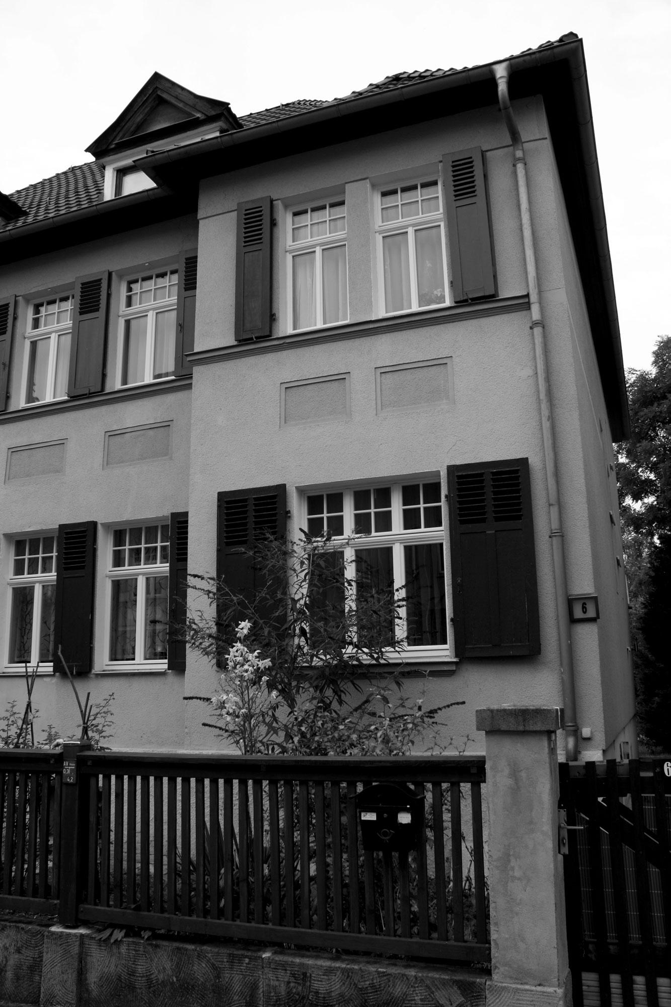 Das Haus Nummer 6 in der Martersteigstraße, 2016